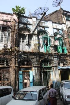 Buildings falling apart