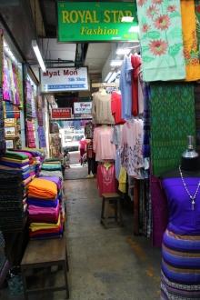 Yangon's cloth market