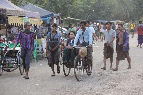 Men wearing Longyi