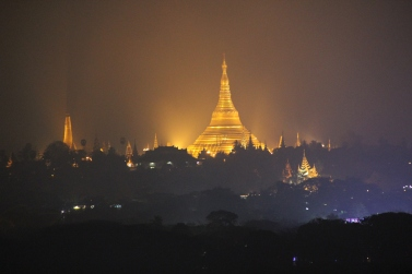 Day and night, Shwedagon Pagoda remains majestic from afar!