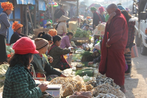 Monks do their shopping too