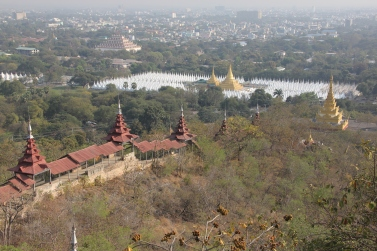 This is how the temple looks like from the top of Mandalay Hill
