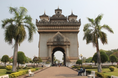 "The ""Patuxai"" monument"