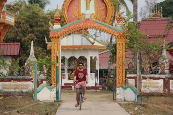 Cycling through a little monastery