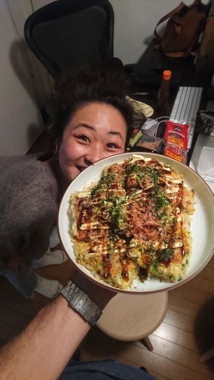 Akiko's very proud of her creation :-D