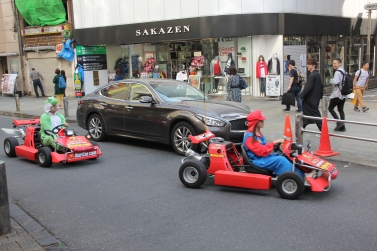 Mario-Kart in real life.