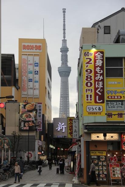 Skytree views from Asakusa