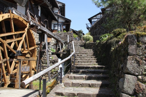 Start of the path in Magome postal town