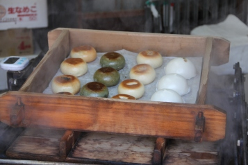Steamed buns in Tsumago