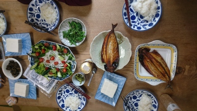 Roasted fish and home-made tofu, yummy!