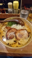 Tonkotsu Ramen with black garlic oil