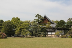 A peaceful portion of Nijo Castle's gardens