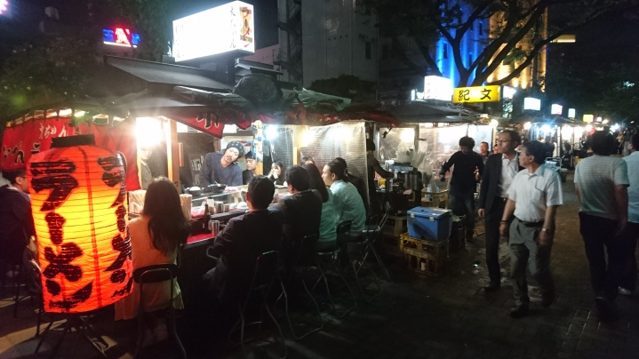 A rare sight in Japan - food stalls